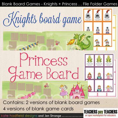 JenStrange BlankBoardGames KnightsPrincesses