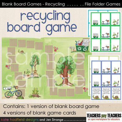 JenStrange BlankBoardGames Recycling