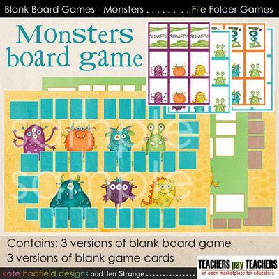 JenStrange BlankBoardGames Monsters