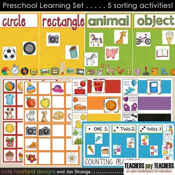 JenStrange PreschoolLearningSet File Folder Game