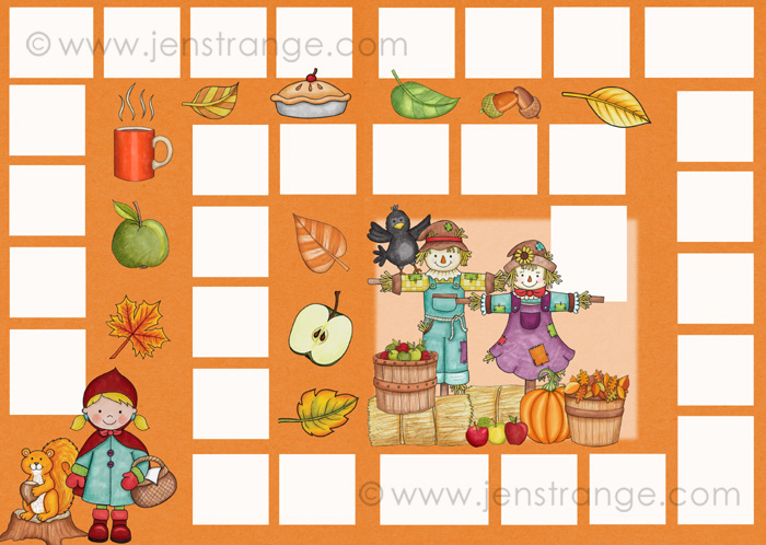 JenStrange Fall File Folder Game